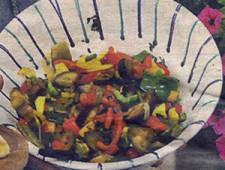 Salat aus Feigenkaktusblättern
