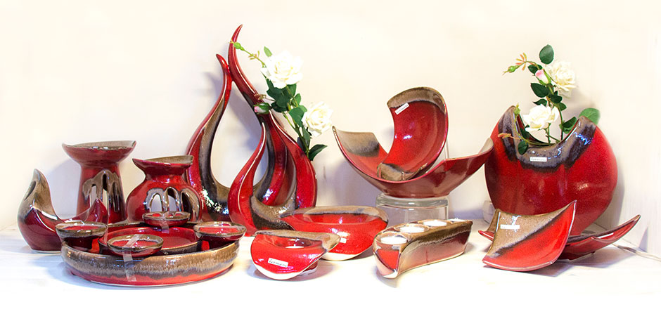 """50% Rabatt - Vasen und Schalensortimen """"Indigo"""" von Formano"""