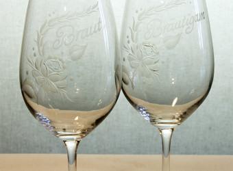 Gläser graviert 3